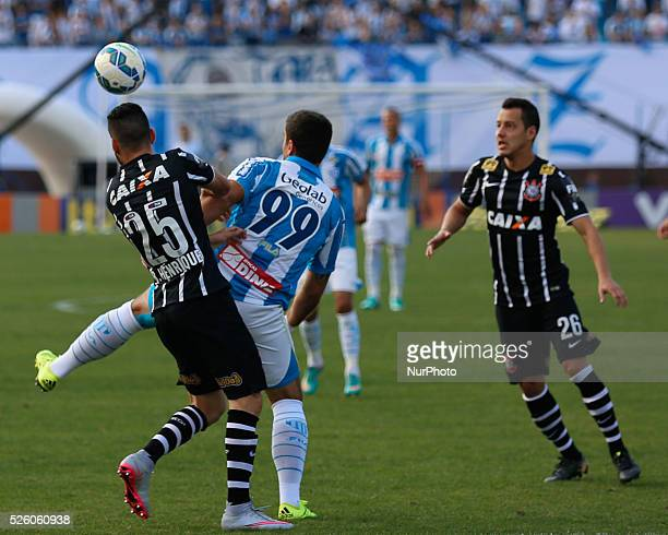 Florian��polis/SC Andr�� Lima from Ava�� and Rodriguinho and Bruno Henrique from Corinthians from 19th round of Brazilian Soccer Championship 2015...