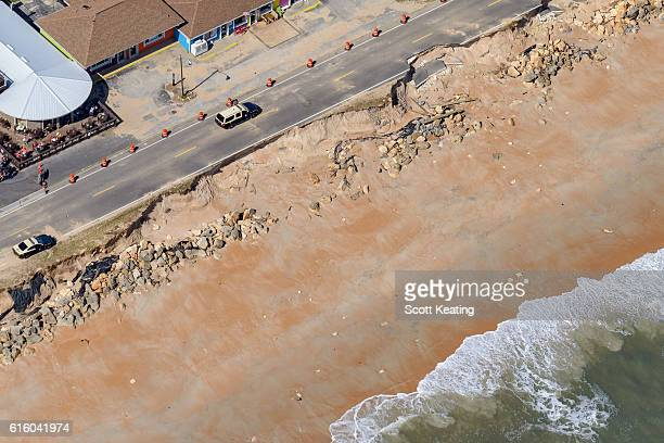 Florida beach errosion and road damage to State Road A1A from Hurricane Matthew