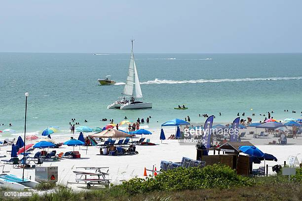 Florida beach scene on Gulf coast