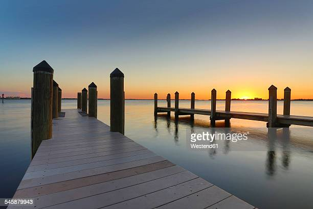 USA, Florida, Cape Coral, sunset above the ocean
