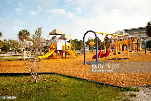 USA Florida Cedar Key City Park Childrens Playground