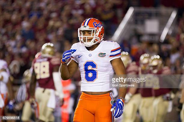 Florida cornerback Quincy Wilson looks to the sidelines during the NCAA football game between the Florida State Seminoles and the Florida Gators on...