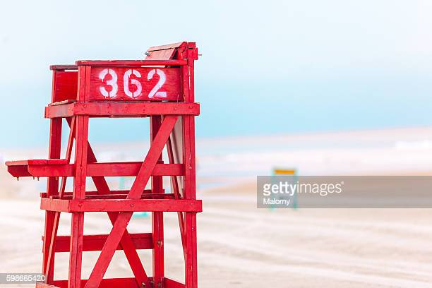 USA, Florida, Daytona Beach. Lifeguard tower on beach