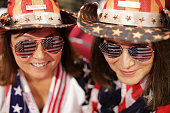 Florida Delegates Tina Harris and Nancy Riley arrive on the first day of the Republican National Convention on July 18 2016 at the Quicken Loans...