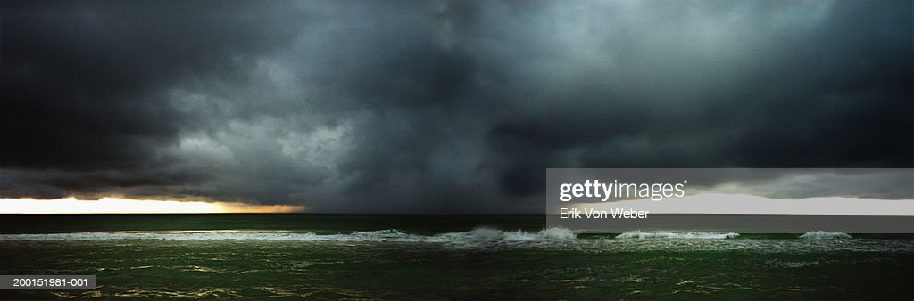 USA, Florida, Destin, hurricane over gulf coast : Stock Photo