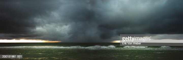 USA, Florida, Destin, hurricane over gulf coast