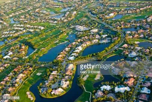 Florida From The Air : Stock Photo