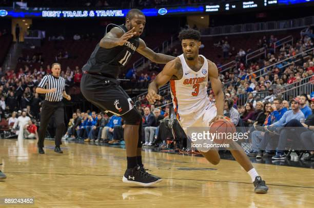 Florida Gators guard Jalen Hudson drives to the basket during the second half of the Never Forget Tribute Classic college basketball game between the...