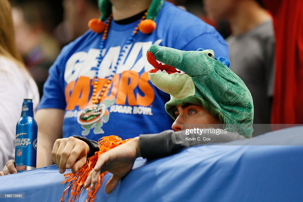 A Florida Gators looks on in the fourth quarter against the Louisville Cardinals during the Allstate Sugar Bowl at Mercedes-Benz Superdome on January 2, 2013 in New Orleans, Louisiana.
