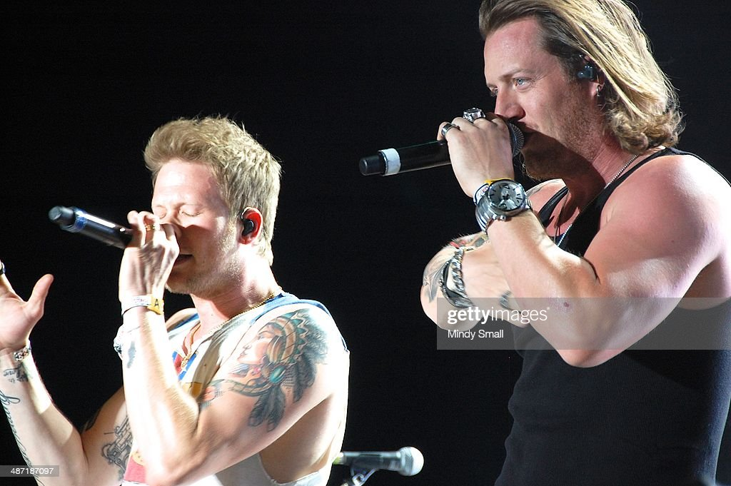 Florida Georgia Lines' Brian Kelley and <a gi-track='captionPersonalityLinkClicked' href=/galleries/search?phrase=Tyler+Hubbard&family=editorial&specificpeople=9453787 ng-click='$event.stopPropagation()'>Tyler Hubbard</a> perform at the 2014 Stagecoach California's Country Music Festival at The Empire Polo Club on April 27, 2014 in Indio, California.