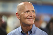 Florida Governor Rick Scott as he visits the Marian Center which offers services for people with intellectual disabilities on July 13 2015 in Miami...