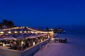 USA, Florida, Gulf Coast, beachfront cafes