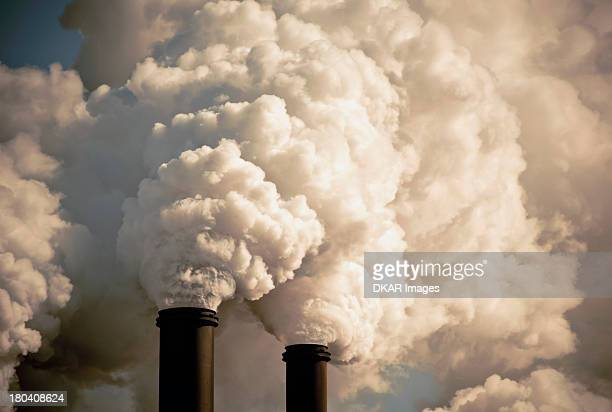USA, Florida, Industrial smokestacks