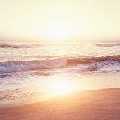 USA, Florida, Jupiter, Beach at sunset