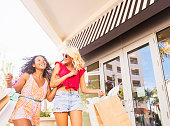 USA, Florida, Jupiter, Female friends shopping