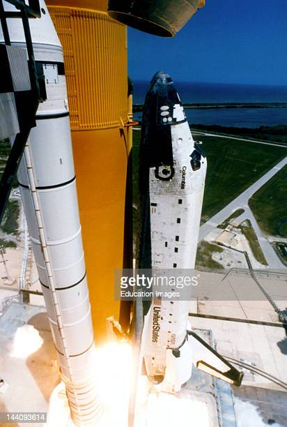 Florida Kennedy Space Center Space Shuttle Columbia About To Lauch