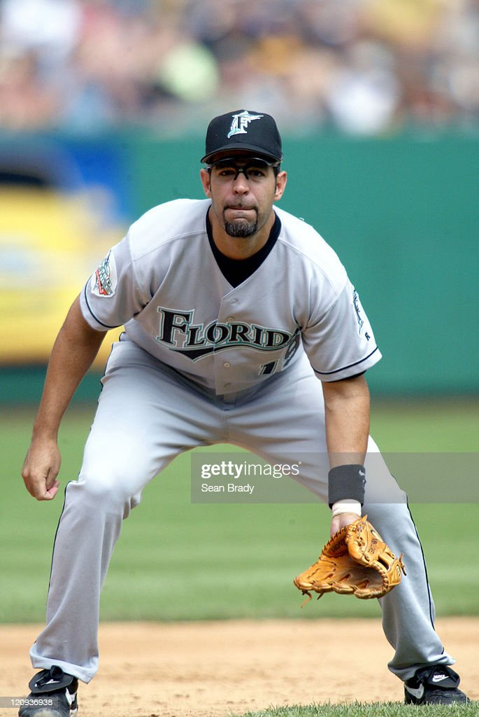 Florida Marlins 3rd baseman Mike Lowell in action against Pittsburgh at PNC Park Pittsburgh Pennsylvania July 18 2004