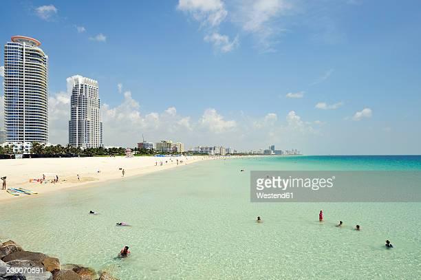 USA, Florida, Miami Beach, South Pointe Beach