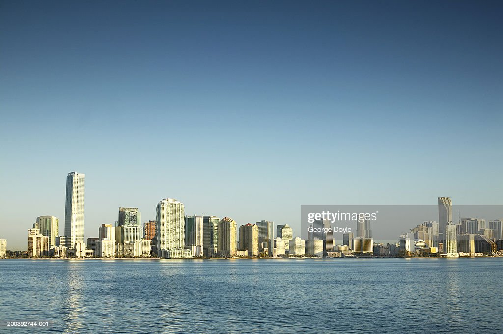 USA, Florida, Miami city skyline : Stock Photo