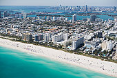 USA, Florida, Miami, Cityscape with beach
