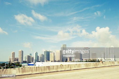 USA, Florida, Miami, skyscrapers of downtown Miami