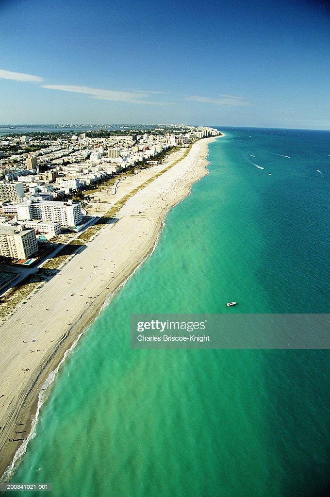 USA, Florida, Miami, South Beach, aerial view : Stock Photo