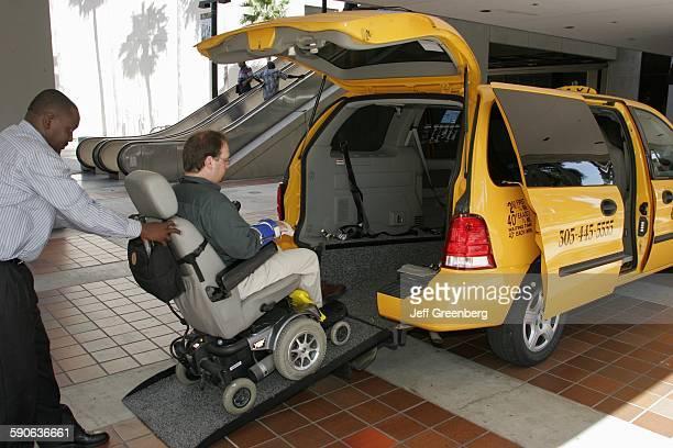 Florida Miami Taxi Cab With Wheelchair Ramp