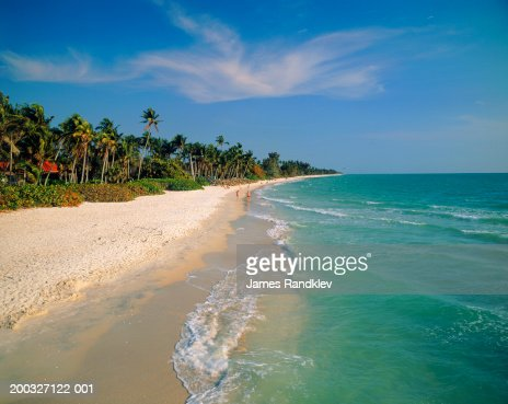 USA, Florida, Naples, Naples Beach along Gulf Coast : Stock Photo