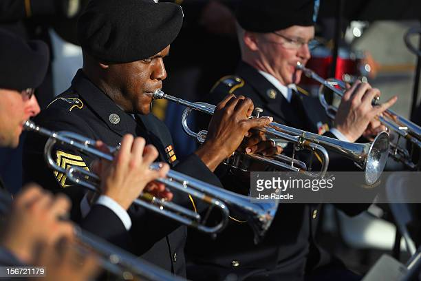 Florida National Guard 13th Army Band members play before the start of the change of command ceremony at the United States Southern Command on...