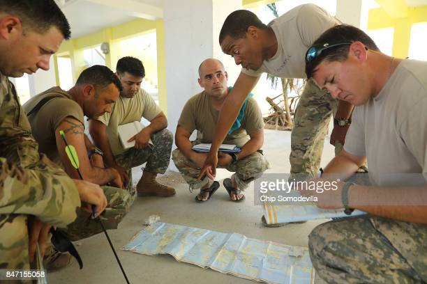 Florida National Guard soldiers from Delta Company 1st Battallion 124th Infantry 53rd Infantry Brigade Combat Team 1st Sgt Jeremy Commander Staff Sgt...