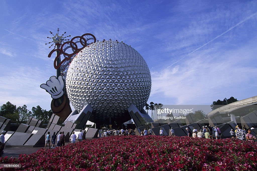 USA Florida Orlando Disney World Epcot Spaceship Earth Dome