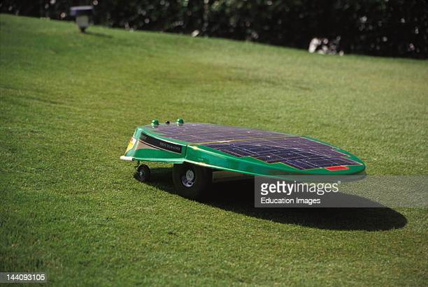 Florida Orlando Robotic Solar Powered Lawn Mower In Action