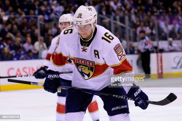 Florida Panthers Center Aleksander Barkov reacts during the NHL regular season game between the Toronto Maple Leafs and the Florida Panthers on March...
