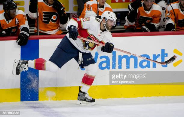 Florida Panthers Defenceman Keith Yandle makes a pass in the first period during the game between the Florida Panthers and Philadelphia Flyers on...
