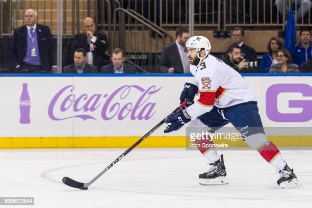 Florida Panthers Defenceman Keith Yandle skates with the puck during the first period of a regular season NHL game between the Florida Panthers and...