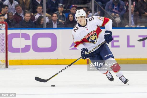 Florida Panthers Defenceman Mackenzie Weegar in action during the third period of a regular season NHL game between the Florida Panthers and the New...