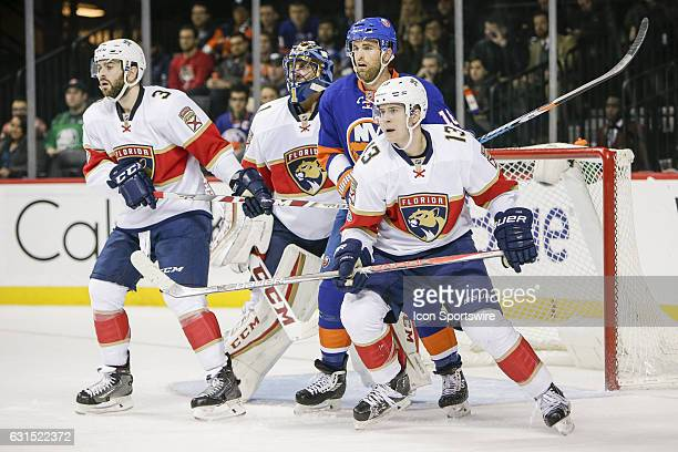 Florida Panthers Defenseman Keith Yandle Florida Panthers Goalie Roberto Luongo New York Islanders Left Wing Andrew Ladd and Florida Panthers...