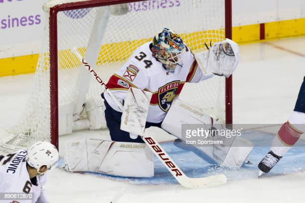 Florida Panthers Goalie James Reimer with a stop during the second period of a regular season NHL game between the Florida Panthers and the New York...