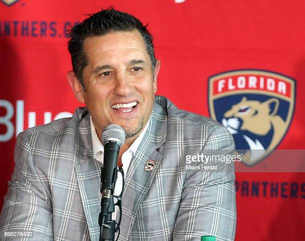 Florida Panthers new coach Bob Boughner speaks during a press conference at the BBT Center Monday June 12 2017 in Sunrise Fla