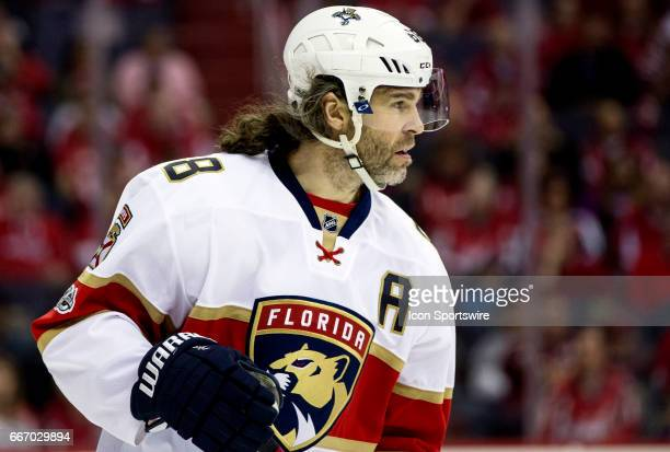 Florida Panthers right wing Jaromir Jagr during a NHL game between the Washington Capitals and the Florida Panthers on April 09 at the Verizon Center...