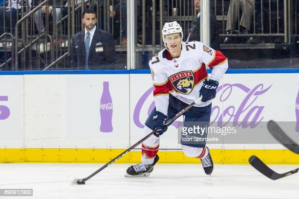 Florida Panthers Right Wing Nick Bjugstad in action during the third period of a regular season NHL game between the Florida Panthers and the New...
