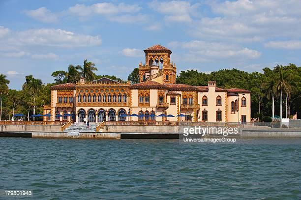 Florida Sarasota John and Mabel Ringling Mansion Ca d Zan from Sarasota Bay