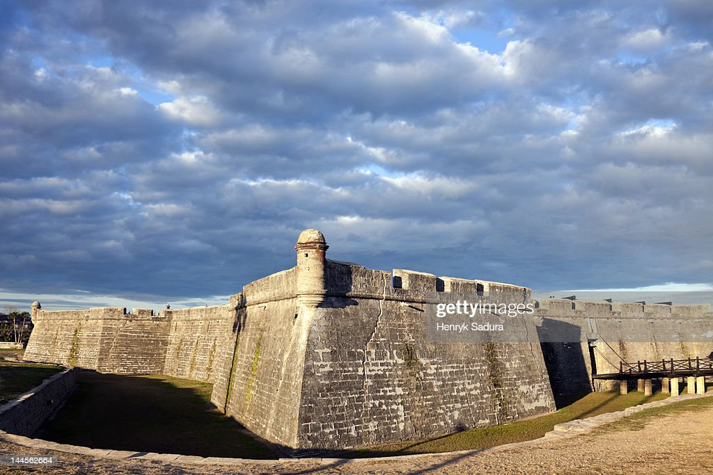 USA, Florida, St. Augustine, Ancient fort