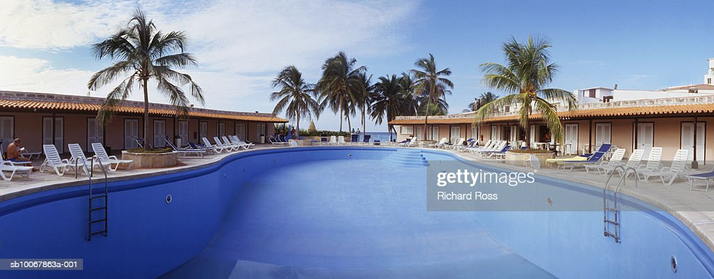 USA, Florida, St. Augustine, Empty swimming pool : Stock Photo