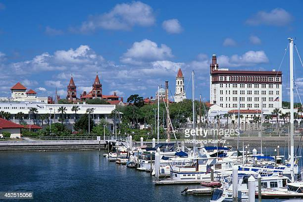 USA Florida St Augustine View Of City Marina