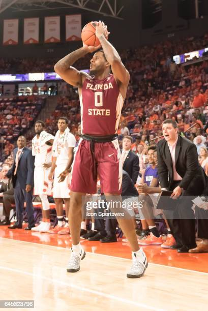 Florida St forward Phil Cover during 1st half action between the Clemson Tigers and the Florida State Seminoles on February 25 at Littlejohn Coliseum...