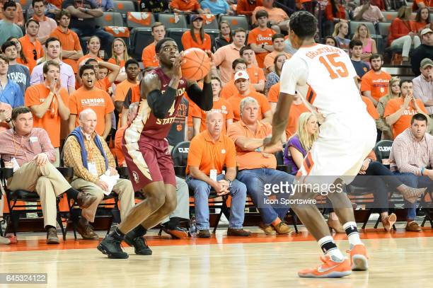 Florida St guard Dwayne Bacon attempts a shot during 1st half action between the Clemson Tigers and the Florida State Seminoles on February 25 at...