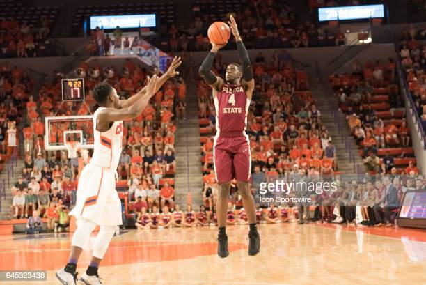 Florida St guard Dwayne Bacon shoots during 1st half action between the Clemson Tigers and the Florida State Seminoles on February 25 at Littlejohn...