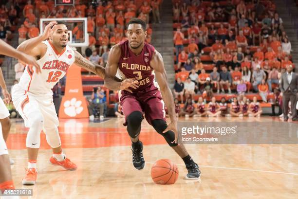 Florida St guard Trent Forrest during 1st half action between the Clemson Tigers and the Florida State Seminoles on February 25 at Littlejohn...