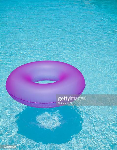 USA, Florida, St. Petersburg, Inner tube floating on water